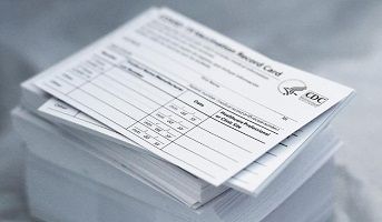 COVID-19 vaccination cards for sale
